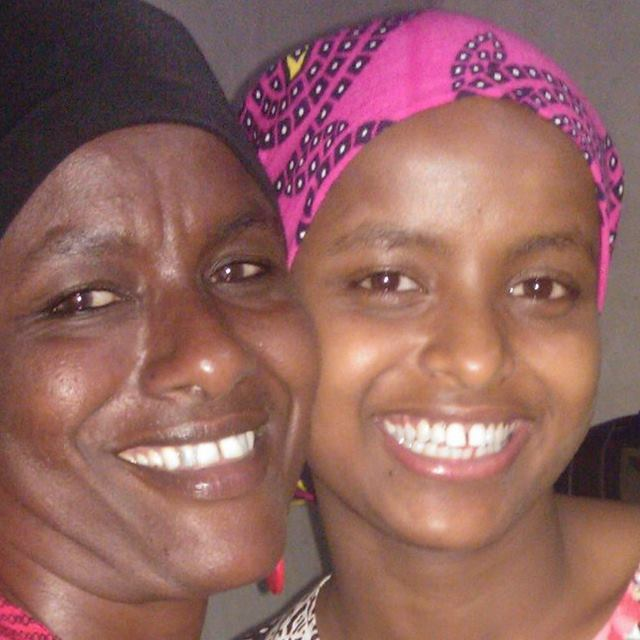 mum and daughter; daki mohammed and her mother