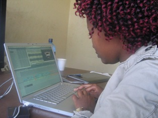 susan mwangi edits film at lola kenya screen