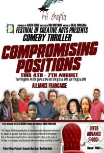 Festival of Creative Arts stages 'Compromising Positions', a play that revolves around abuse of public office, corruption, blackmail and murder