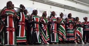 kibera peace building group performs at the book launch