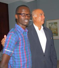 1st Prize winner Elsdart Kigen with prize sponsor Anthony Athaide
