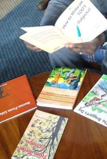 ComMattersKenya books at a book display in Nairobi