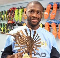 Yaya Toure_BBC African Footballer of the Year winner