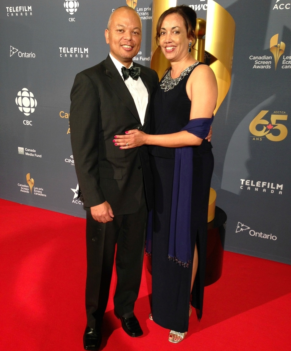 Stan Barua and his wife Cecilia at the Canadian Screen Award Gala