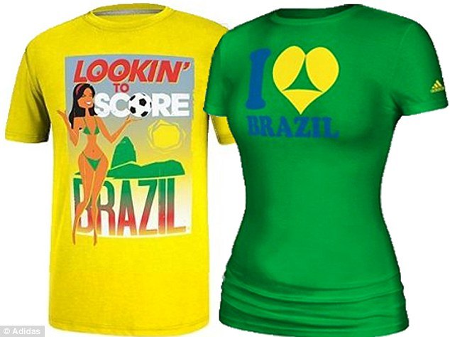 adidas sexy world cup t-shirts