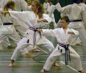 Women at Chelmsford participating in a Karate session.