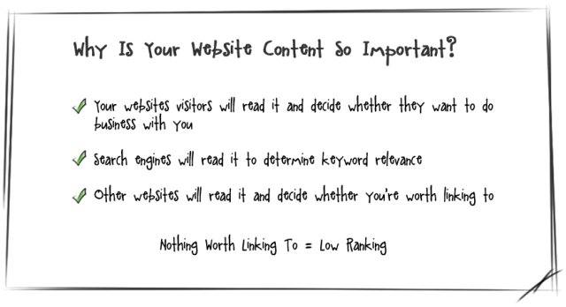 why your website content is important, linkdex.com