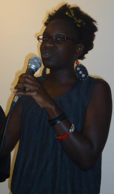 Loi Awat answers questions at 76th Lola Kenya Screen film forum