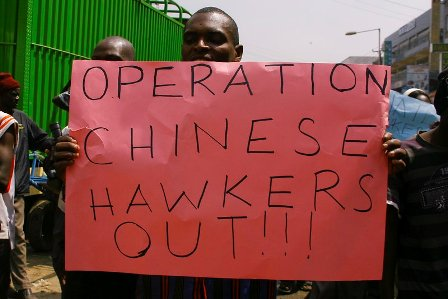 2012 demonstration against chinese hawkers
