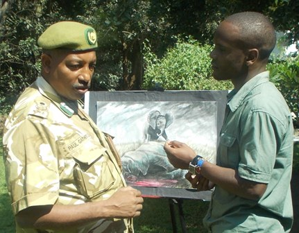 Paul Gathitu of Kenya Wildlife Service, Robert Reriani of Wild Life Africa