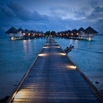 maldives at night by christopher charles white