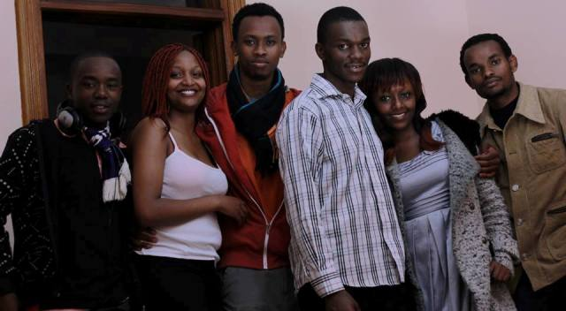 crew and cast of Mark Maina Maingi's Consigned to oblivion film