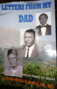 front cover of dr james ojago's letters from my dad