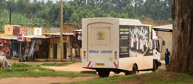 mobile library truck in uganda