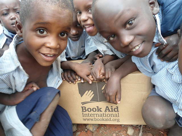 book aid's donation brings delight to ugandan children