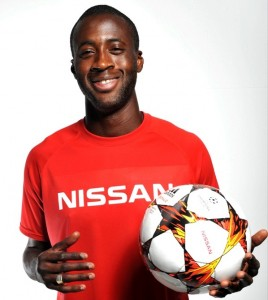 nissan sponsored uefa champions league 2015 yaya topure