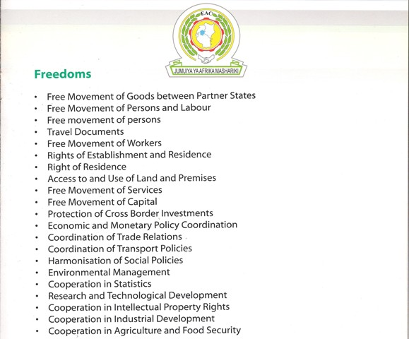 Freedoms for East African Community citizens