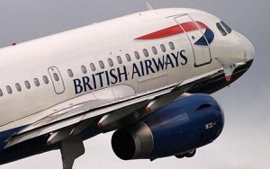 British Airways passenger plane takes off