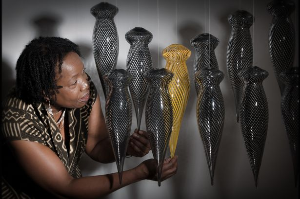 Magdalene Odundo, UK-based Kenyan born artist with her work. thejournal.co.uk pic