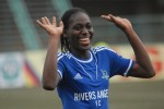 Asisat Oshoala with Rivers Angels of Nigeria's Port Harcourt