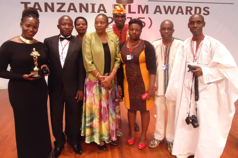Tanzania Film Awards 2015 President, Jury, Guests with Culture Minister