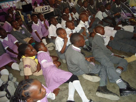 Good Testimony Junior School participate in Lola Kenya Screen's School Outreach programme