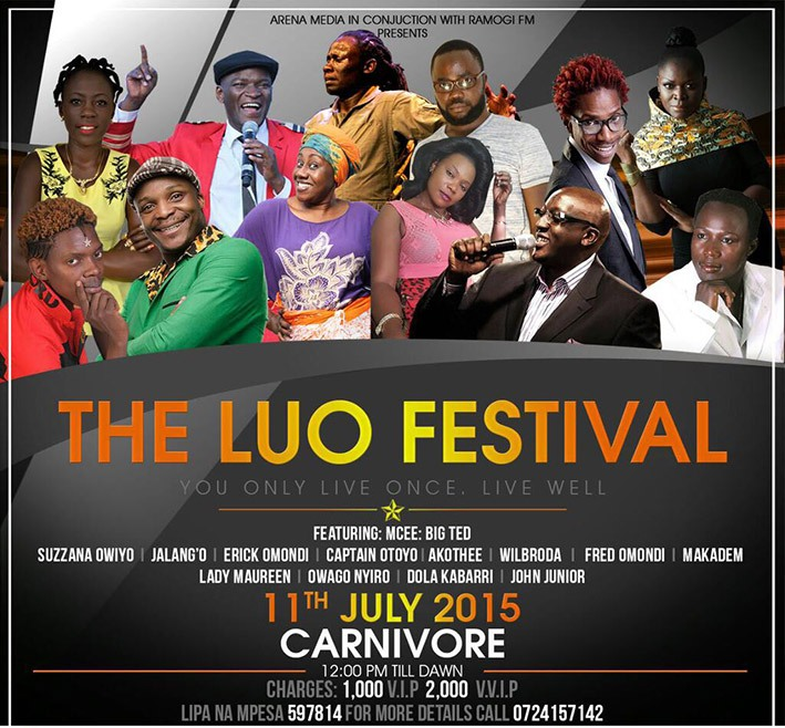Luo Night Gives Way to Luo Festival at Nairobi's Carnivore