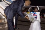 Barack Obama, US President , lands at Jomo Kenyatta International Airport