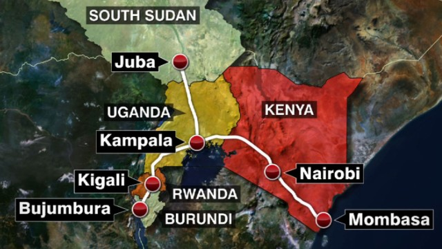 China-funded East African Standard Gauge Railway line