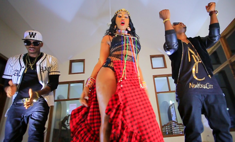 Prokoto, a music video by Victoria Kimani featuring features Tanzanian artists Diamond Platinumz and Ommy Dimpoz