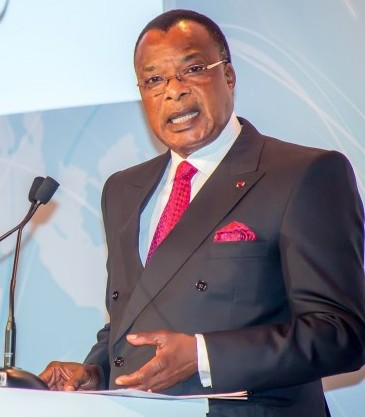 President Denis Sassou N'Guesso of Congo-Brazzaville addresses the 47th General Assembly of African Airlines Association