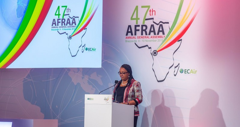 Equatorial Congo Airlines CEO and outgoing President of the African Airlines Association, Fatima Beyina-Moussa