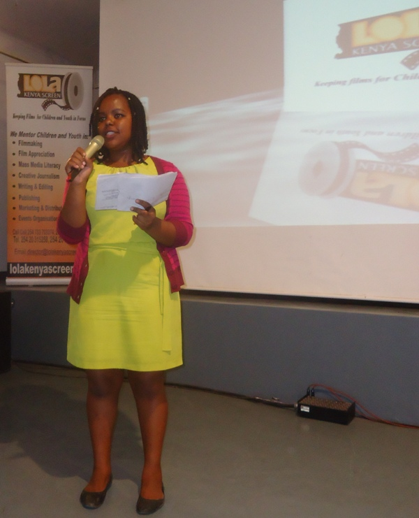 Stephanie Njoki, Master of Ceremonies, 90th Lola Kenya Screen film forum, Goethe-Institut, Nairobi, Kenya
