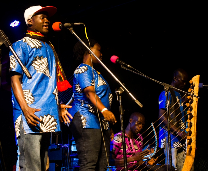 West Nile Fusion Band performs at the inaugural Nyege Nyege International Music Festival in Njeru town, eastern Uganda