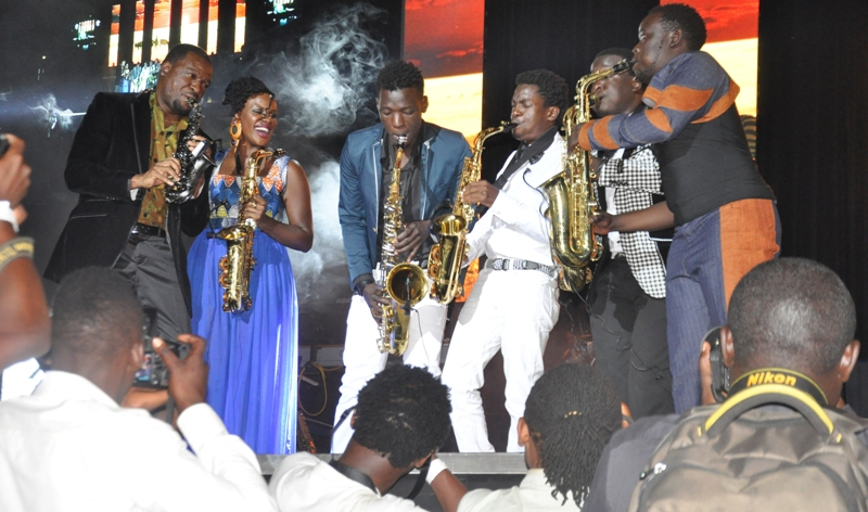 Sax Aces 2015 at Quela Junction II concert series at Kampala Serena Hotel