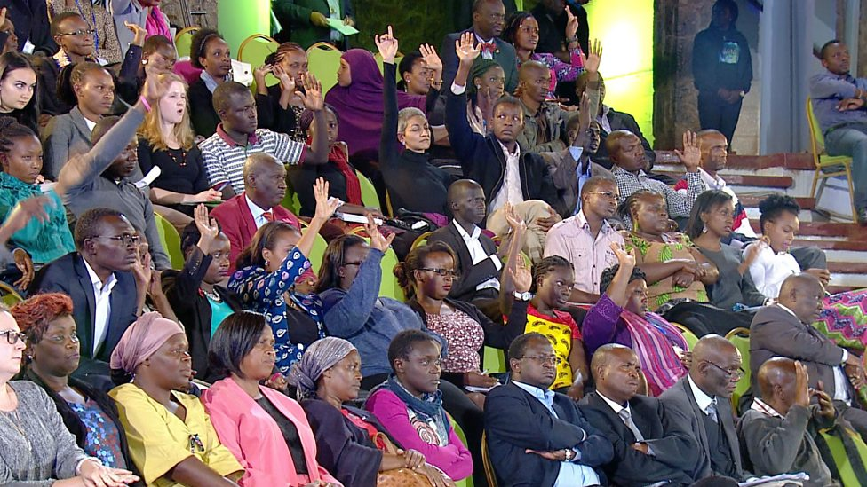 The audience from 9 African countries weigh in on the BBC Global Questions discussion in Nairobi, Kenya