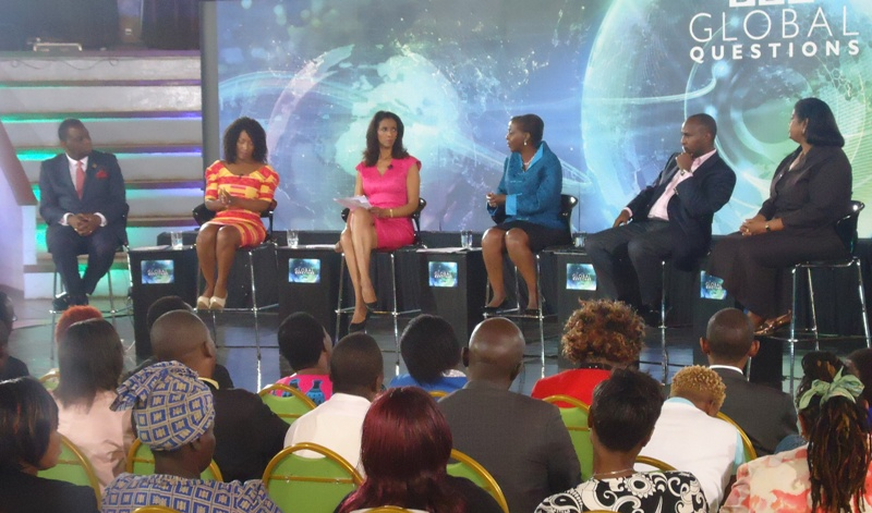 The Panel of BBC Global Questions tackling What Does Equality Mean for Women in Africa?