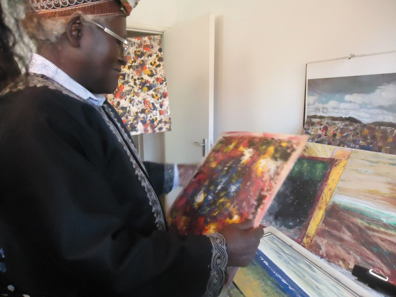 Artist David Gian Maillu explains his paintings