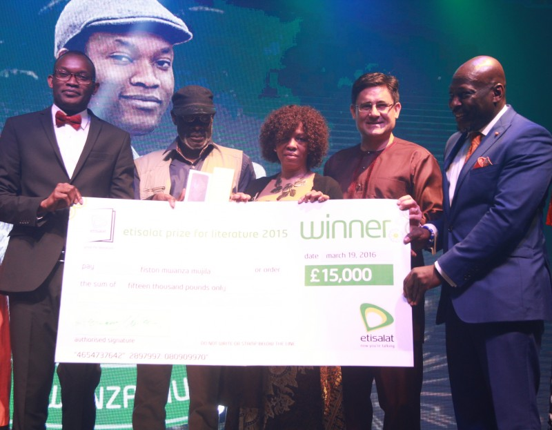 Fiston Mwanza Mujila wins £15000-Etisalat prize, engraved Montblanc Meisterstück, Iphone 6S and a £13000 University of East Anglia Fellowship