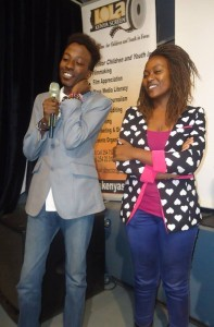 Rookie film director Lawrence Mwangi Nduati fields questions in Nairobi