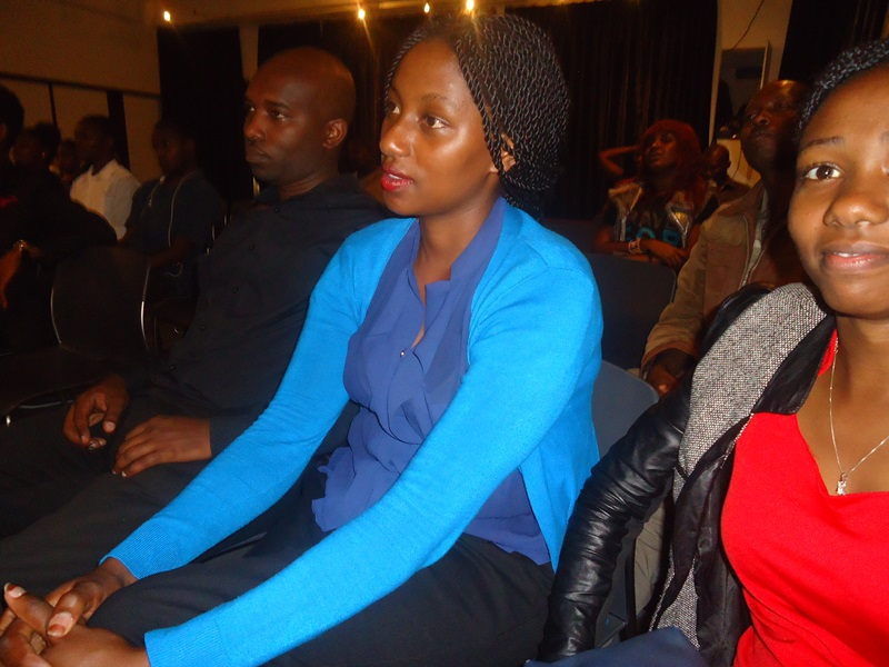 Focusing on screen lest they miss something during Nairobi's 92nd Lola Kenya Screen film forum