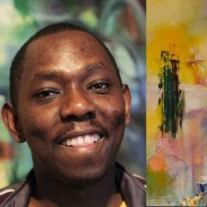 Adrian Nduma works mainly with acrylics on canvas