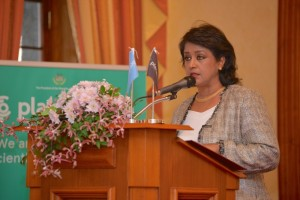 Dr Ameenah Gurib-Fakim, Vice Chairman and Trustee of Planet Earth Institute and President of Mauritius