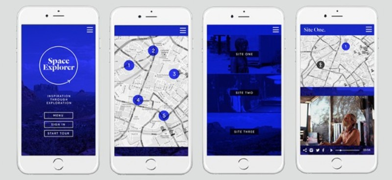 The Space Explorer smartphone app also uses GPS technology to trigger the sounds and stories behind each image as you get closer to it, making it a properly immersive experience
