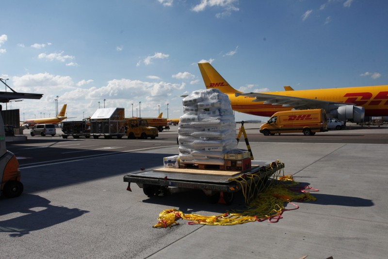 Eliska was loaded on to a dedicated 28-tonne Boeing 757-200 freighter, specially modified for animal transport, and flown more than 6500 kilometres directly to Kilimanjaro Airport in Tanzania