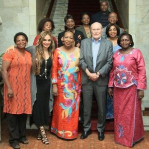 Betty Amongi, Dr Rasha Kelej, Catherine Samba Panza with Prof Dr Frank Stangenberg-Haverkamp