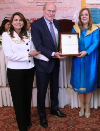 Professor Frank Stangenberg-Haverkamp, Chairman of Executive Board and Family Board of E Merck KGaA received the African Alliances He for She Award for Women Empowerment in recognition of his company's efforts to empower women in the field of research and healthcare and also for empowering infertile women in through the Merck More than a Mother campaign.
