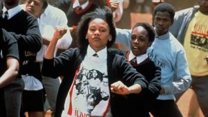 South African school-going youth riot in Soweto in 1976 as captured in Sarafina!