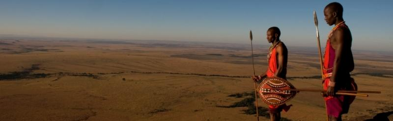 Vast landscapes, open skies, Maasai morans