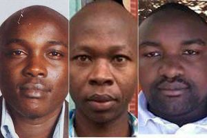 Lawyer Willie Kimani, boda boda motorcycle taxi rider Josephat Mwenda, and taxi driver Joseph Muiruri whose bodies were retrieved from from Ol-Donyo Sabuk River in Machakos County, eastern Kenya, on 30.06.16